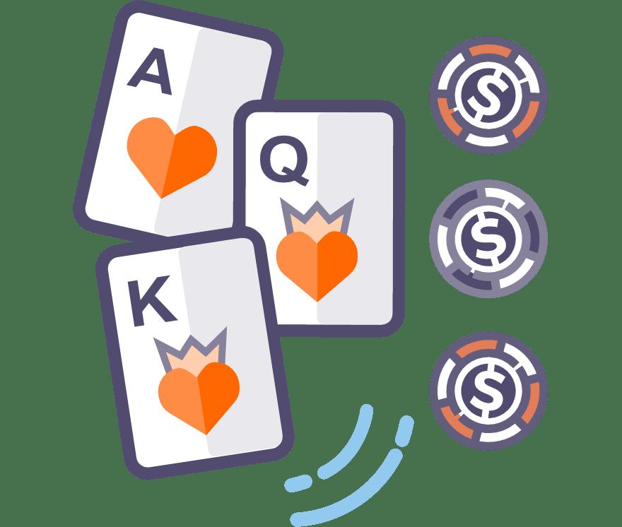 13 Bästa Trekortspoker Online Casinos 2021